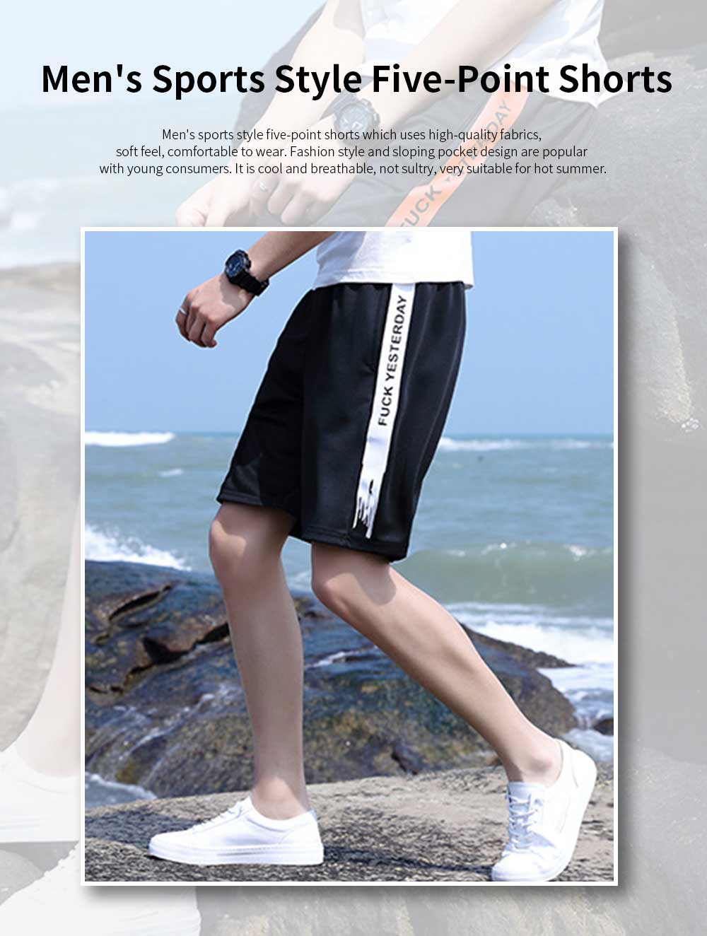 Men's Sports Style Shorts Students' Five-Point Shorts New Fashion Simple & leisure Pants For Summer 0