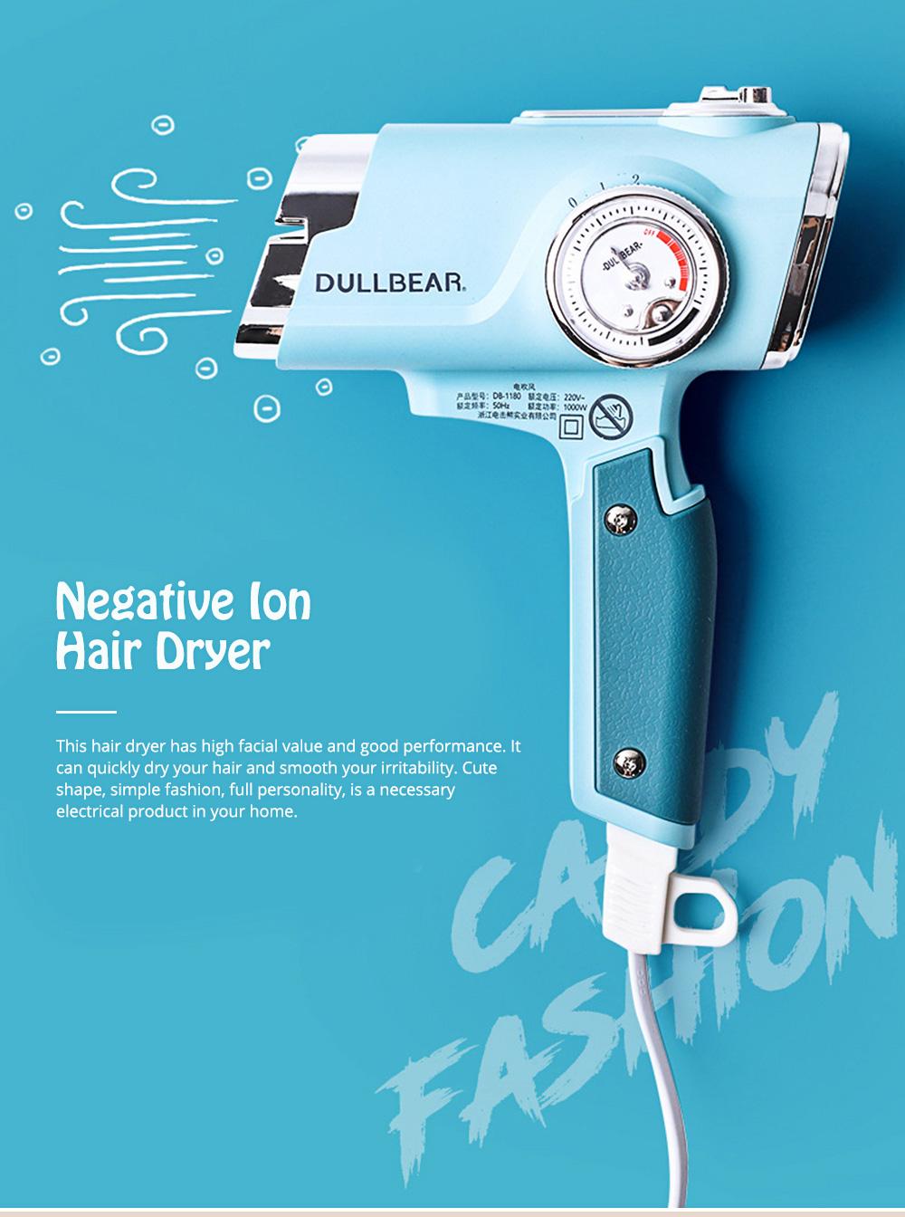 DULLBEAR Negative Ion Hair Dryer Small Portable Folding Home Travel Hairdryer 0