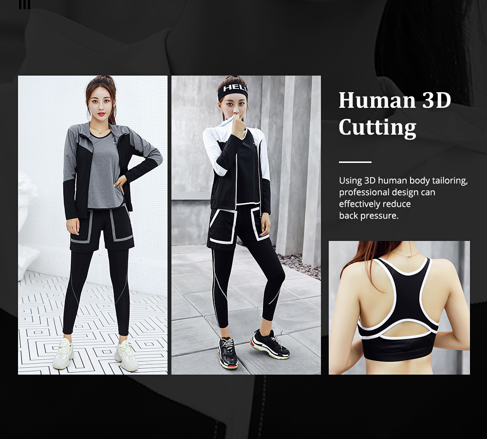 Large Size Fitness Clothes Loose Professional Yoga Suit Five-piece Suit for Gymnasium Sports Running in Autumn and Winter 1