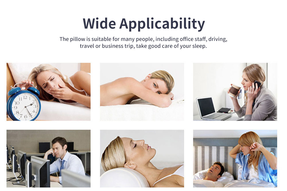 Soft Breathable U-shape Pillow Cotton PP Material Soft Elastics Cervical Pillow for Office Staff Driver U Shape Breathable Bolster 6