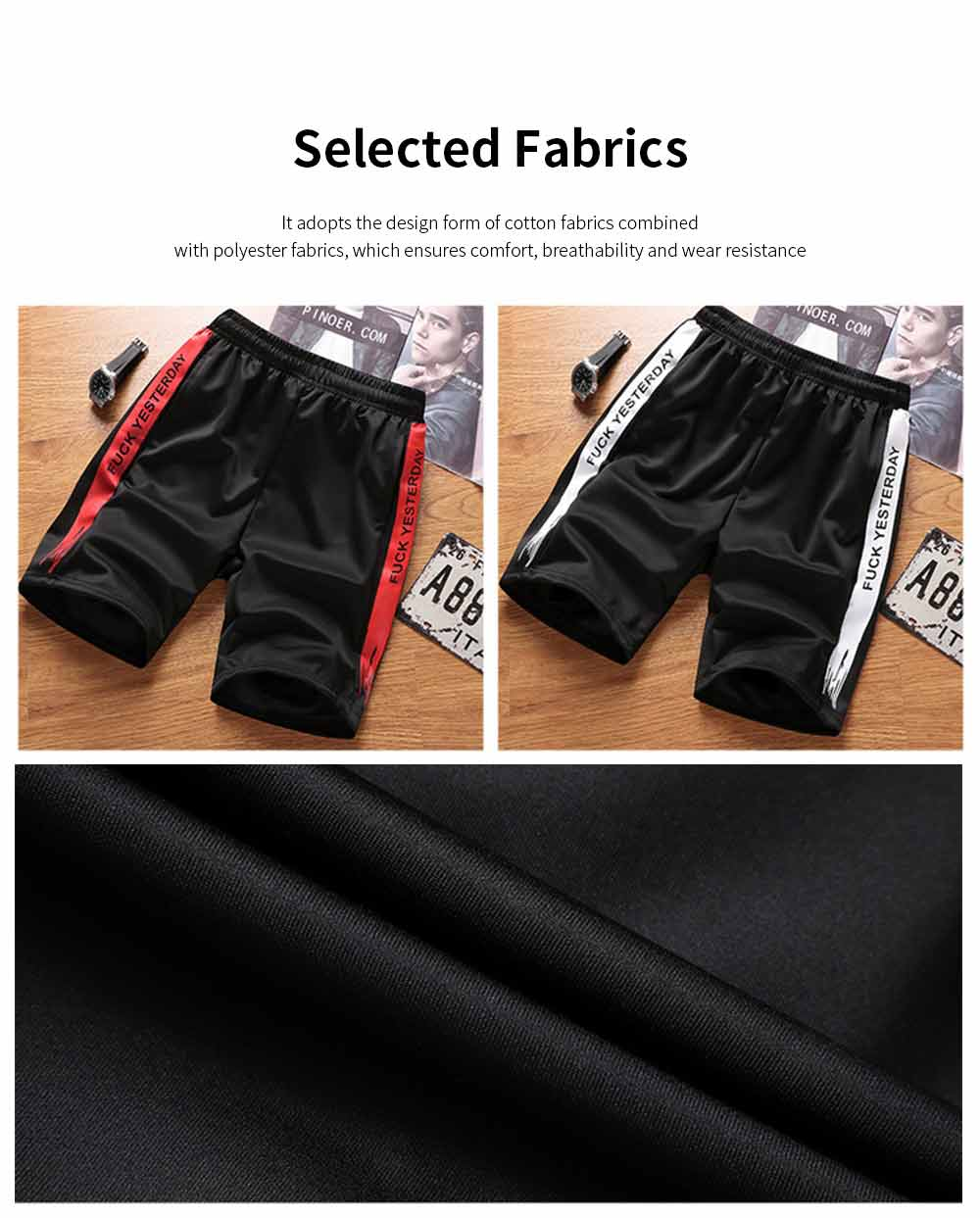 Men's Sports Style Shorts Students' Five-Point Shorts New Fashion Simple & leisure Pants For Summer 4