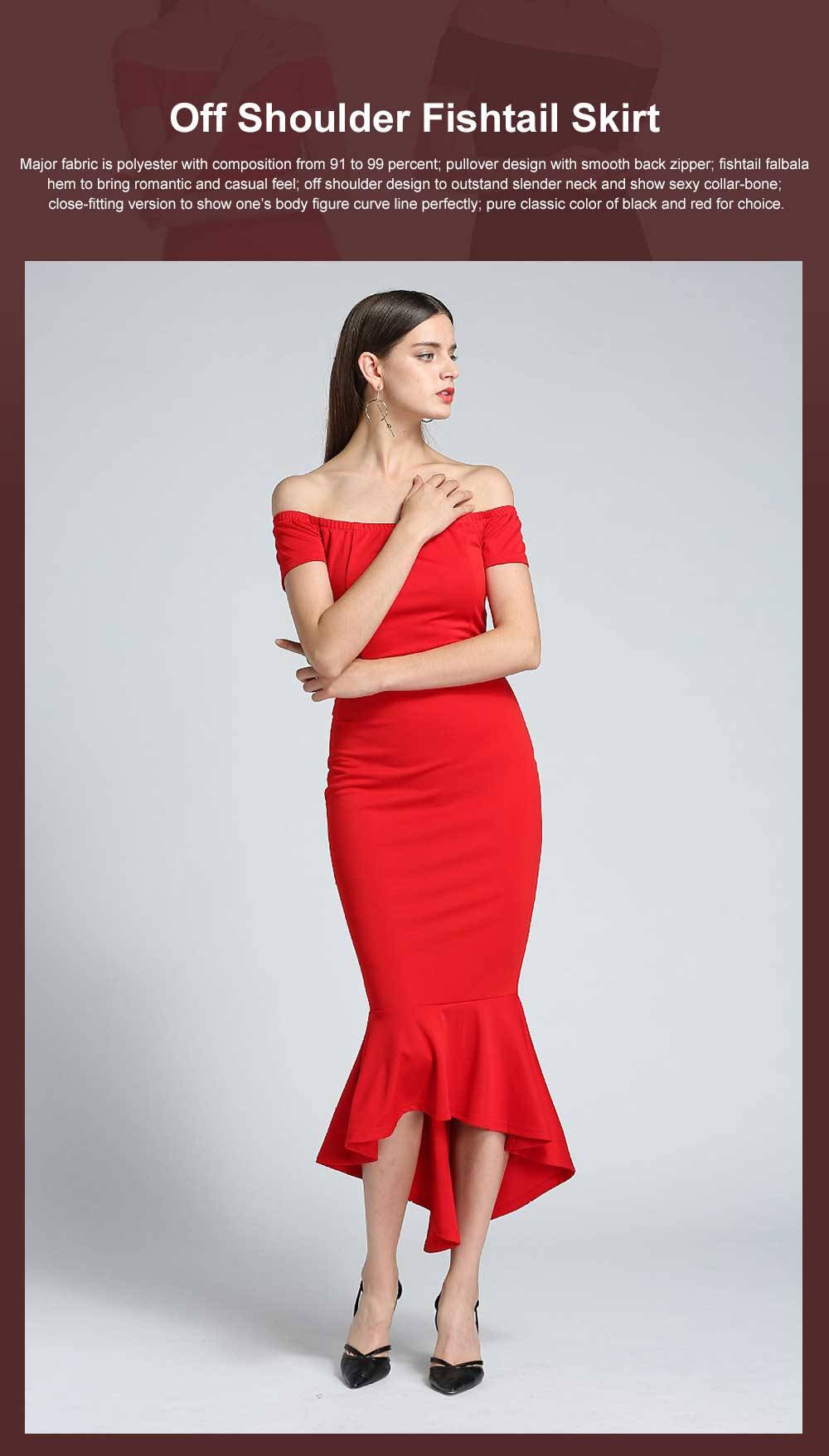 New Style One-piece Dress for Party Western Style Evening Formal Dress Amazon Best-selling Off Shoulder Short Sleeve Fishtail Skirt Evening Dress 0
