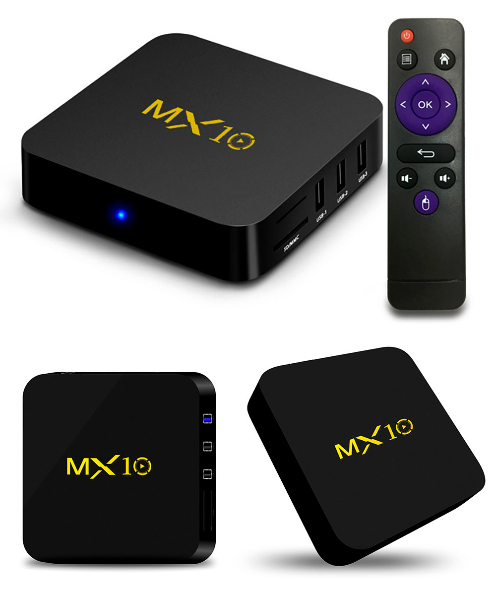 Tinkleo MX10 Kodi 17.1 Android TV Box 4G 32G RK3328 A53 3D 4K Wifi USB 3.0 With Remote 8