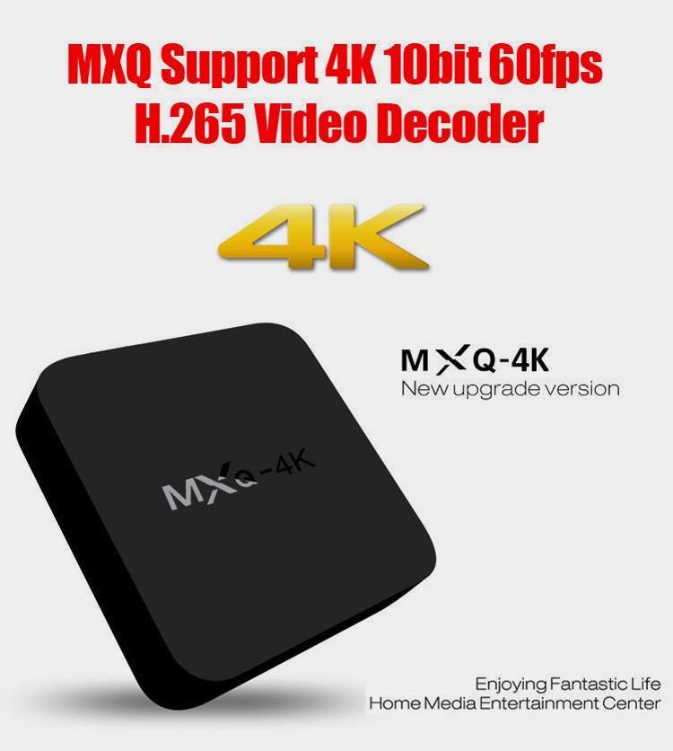 MXQ-4K H3 Android 7.1 TV Box 2GB 16GB Quad Core 4K Wifi Bluetooth H.265 Smart Set Top MXQ Box Network Player Kodi Google  0