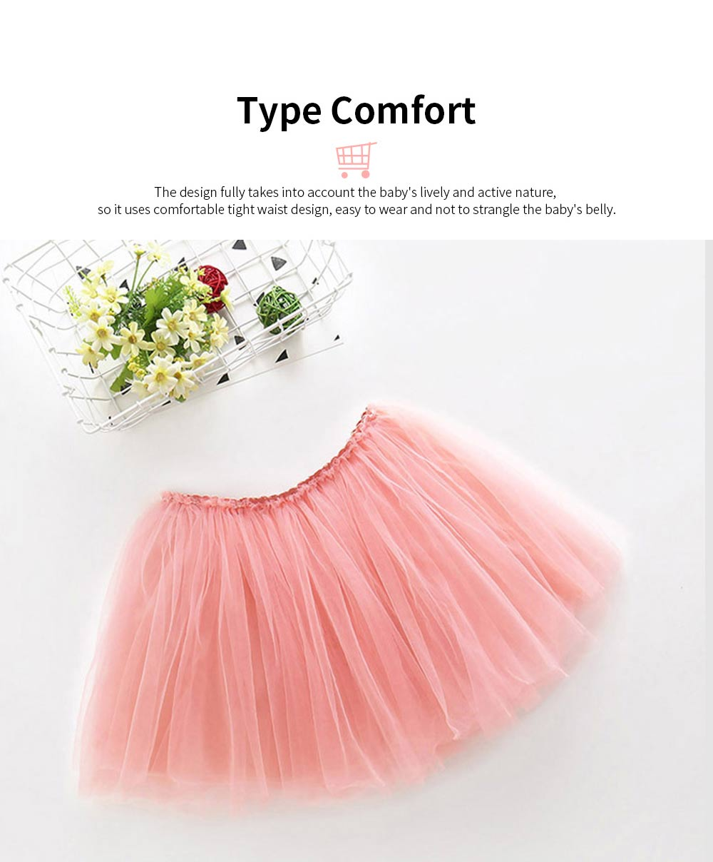 Mesh Princess Style Half-length Skirt for Girls Spring & Summer Short Yarn Skirt for 3-8 Years Girl 2