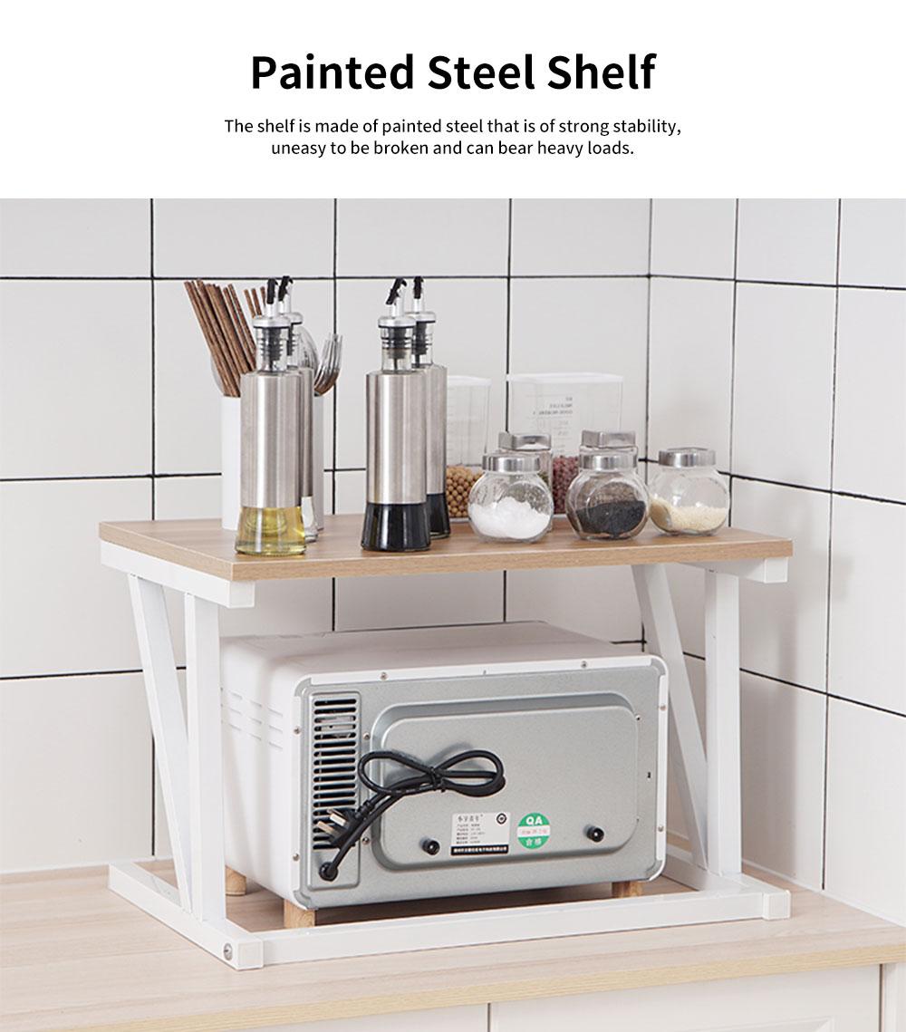 Double-layer Microwave Oven Shelf Multifunctional Rack Stand Cabinet Shelf Storage Organizer 2