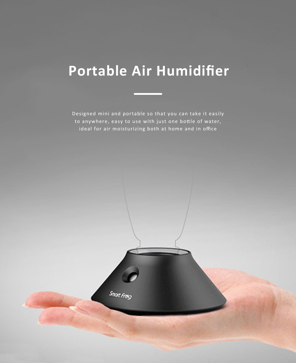 Portable Air Humidifier, Domestic Mini Mineral Water Bottle Based Air Moistener for Home and Office 0