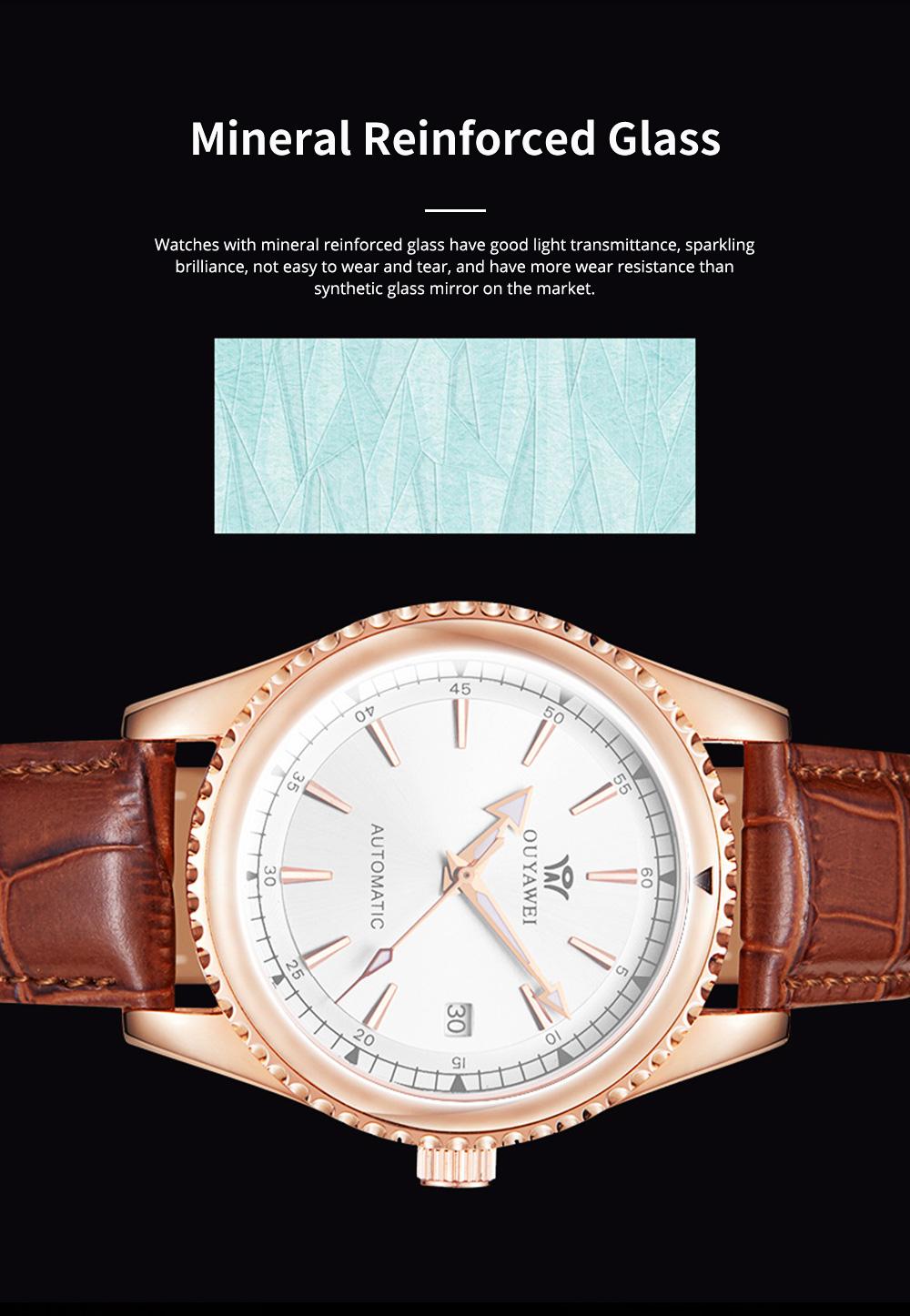 Man's Automatic Mechanical Watch Night Light Waterproof Business Hollow Steel Band Wristwatch, Swiss Wristwatch with Calendar 2
