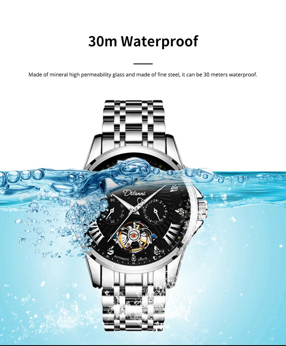 Classic Men's Watch Swiss Flywheel Machinery Watch Fully Automatic Machinery Watch Swiss Geneva Ribbon Machinery Watch 1