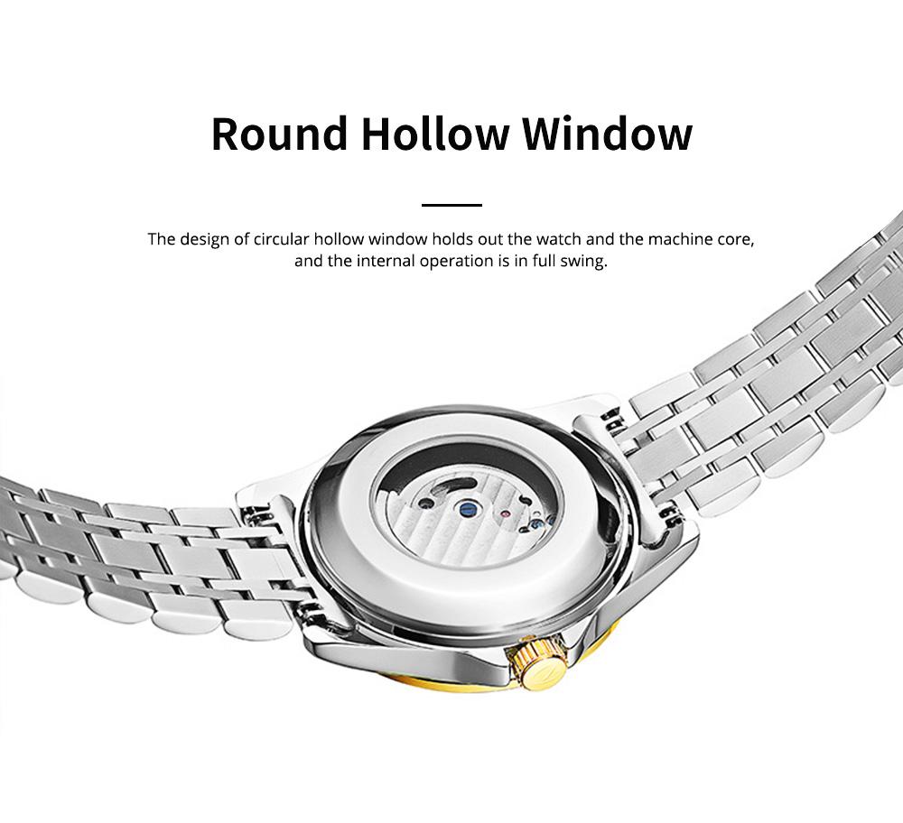 Classic Men's Watch Swiss Flywheel Machinery Watch Fully Automatic Machinery Watch Swiss Geneva Ribbon Machinery Watch 5