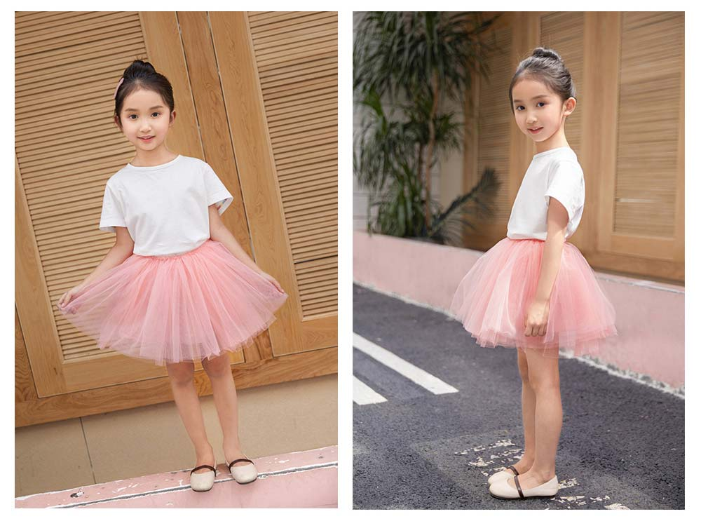 Mesh Princess Style Half-length Skirt for Girls Spring & Summer Short Yarn Skirt for 3-8 Years Girl 5