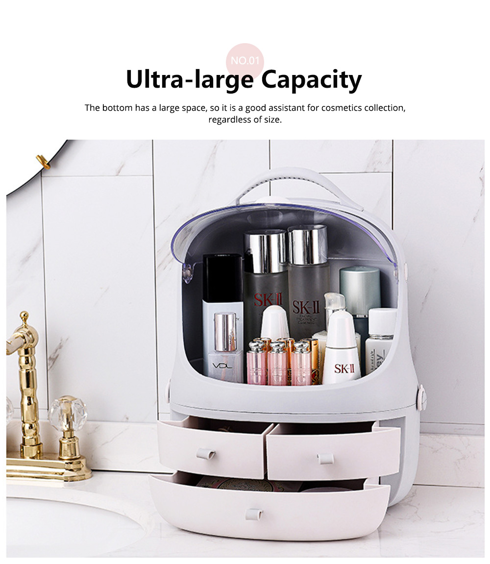 Penguin Drawer Cosmetics Box Space Capsule Cosmetic Box Cosmetic Receiving Storage Box 1