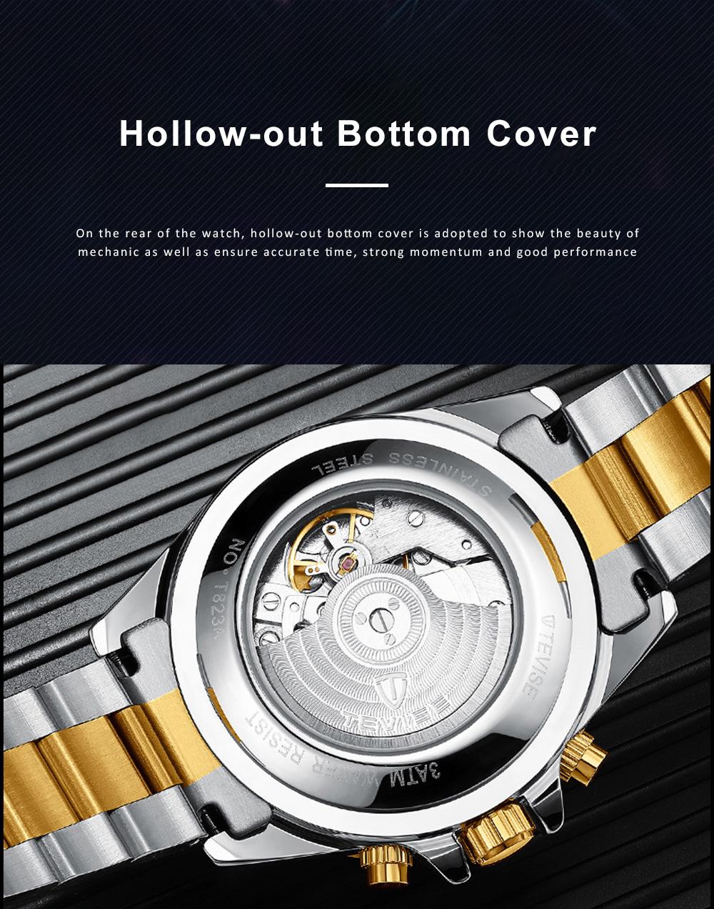 Night Luminous Mechanical Men's Watch Multifunctional Waterproof Wrist Watch for Businessman 2
