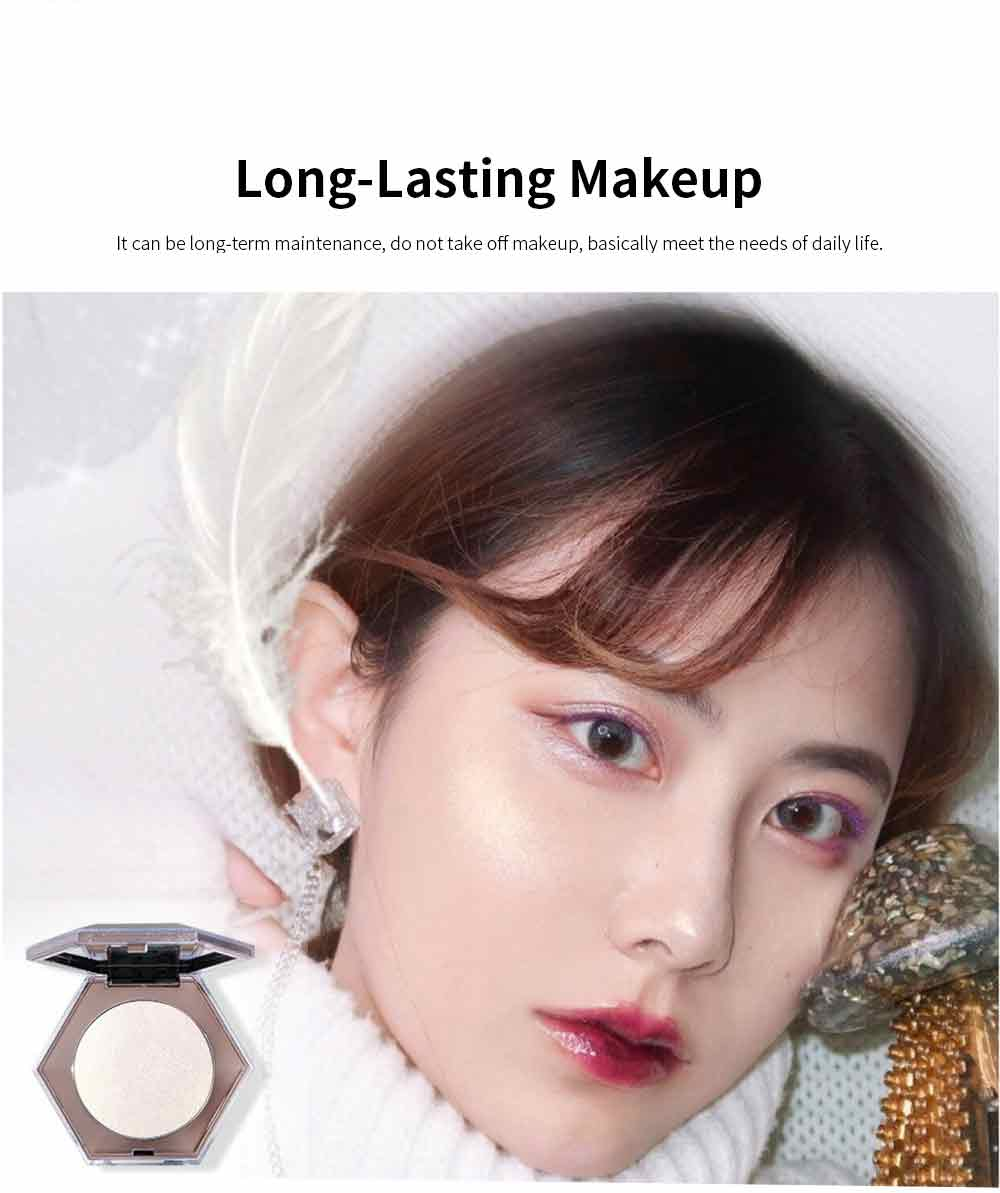 Superior Highlighting Powder, Popular Bright Makeup Powder Stereoscopic Facial Long-Lasting Powder Disc With Mirror 4