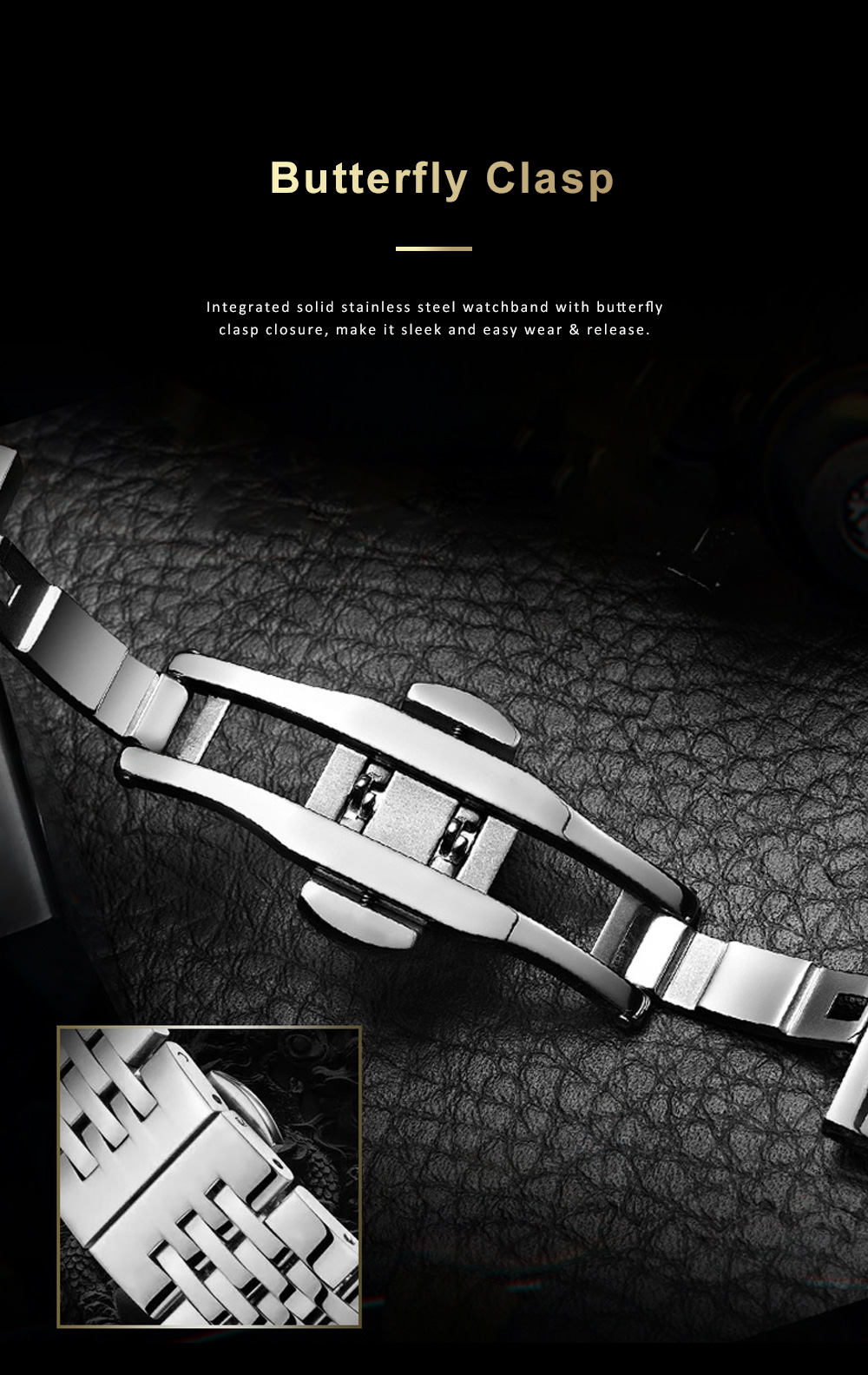 Automatic Mechanical Men's Watch for Business, Daily, Dating, Luxurious Fashion Businessman Watch with Waterproof 5