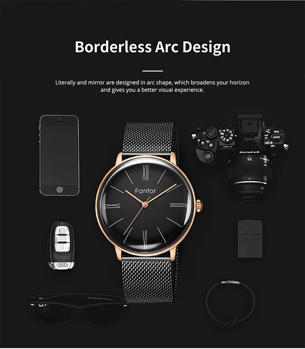 Multifunctional Watches for Business Literature and Art, Recreational Simple Curved Quartz Brand Authentic Watches 1