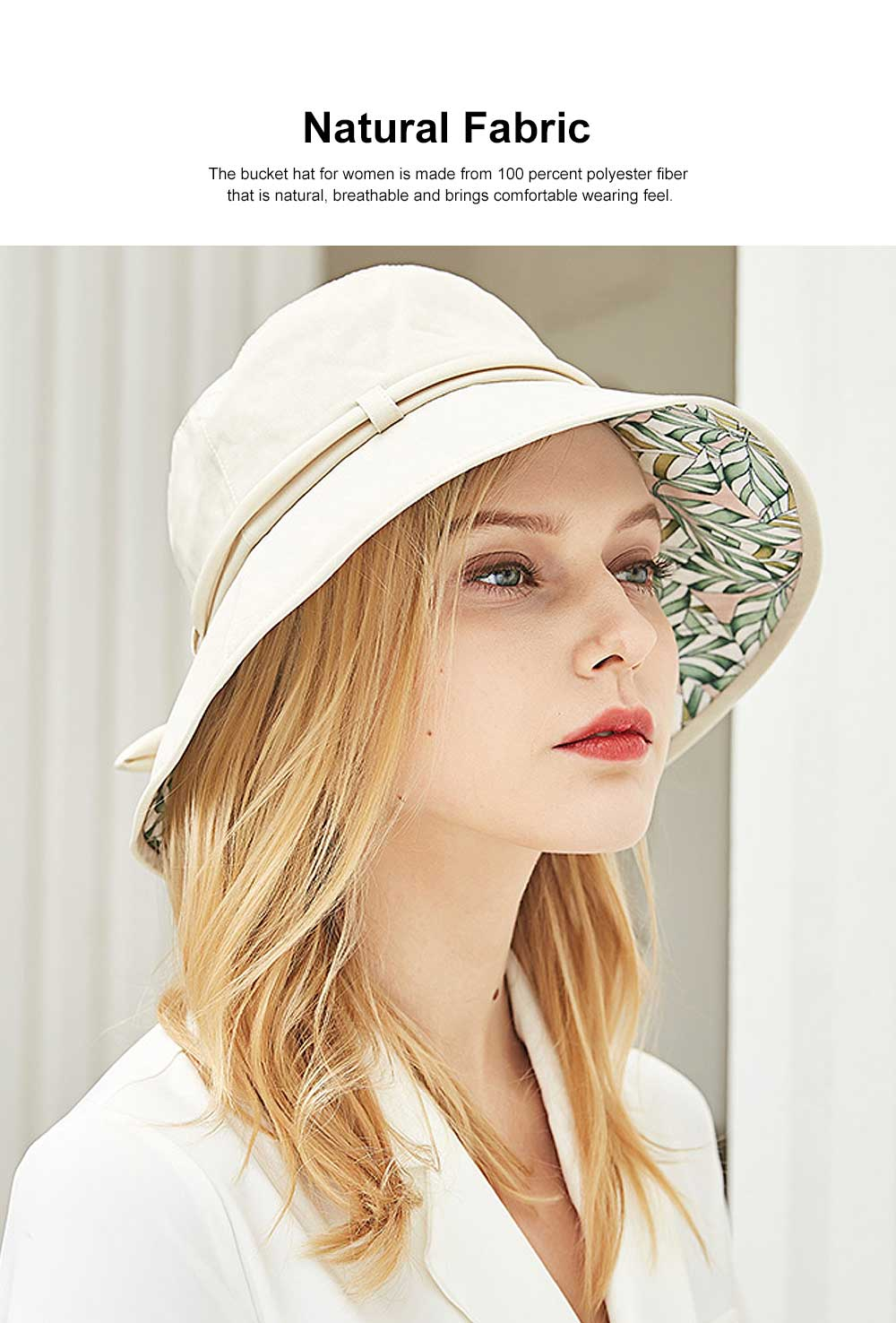 Outdoor Foldable Windproof Sunbonnet for Travelling Casual Sunhat for Lady Summer All-match Sun Helmet for Women Sunblock Bucket Hat 3