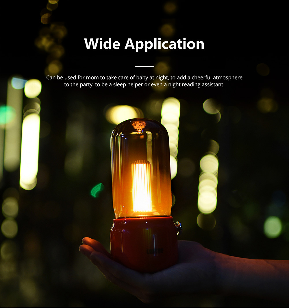 Creative Candlelit Night Light LED Desk Lamp Adjustable Brightness with USB Charging Energy-saving Lamp for Bedroom Bathroom Hallway 10