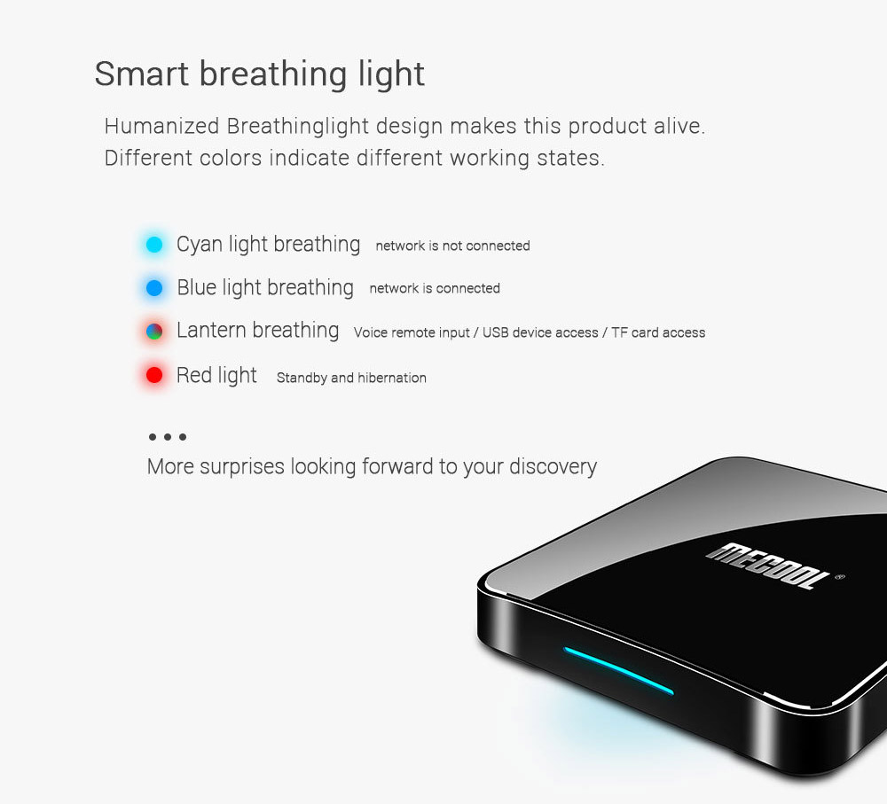 MECOOL KM3 905X2 Android 9.0 Smart TV Box 4G 64G Amlogic Quad Core A53 3D 4K USB3.0 Support Youtube Google 2