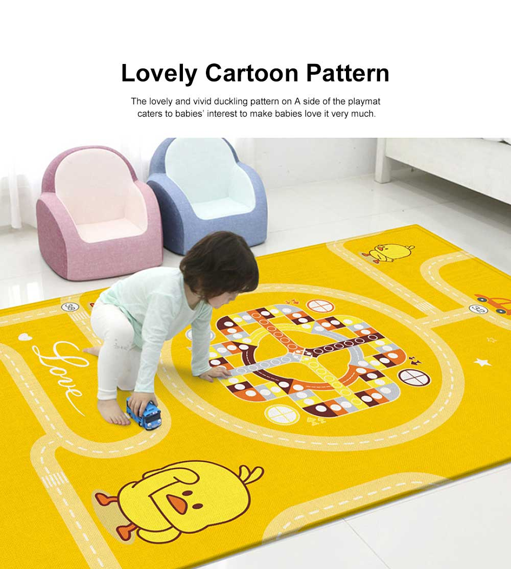 Duckling Cartoon Crawling Mat Thickness 1cm Mambobaby Parent-child Interaction Baby Cushion Aeroplane Chess Playmat 2