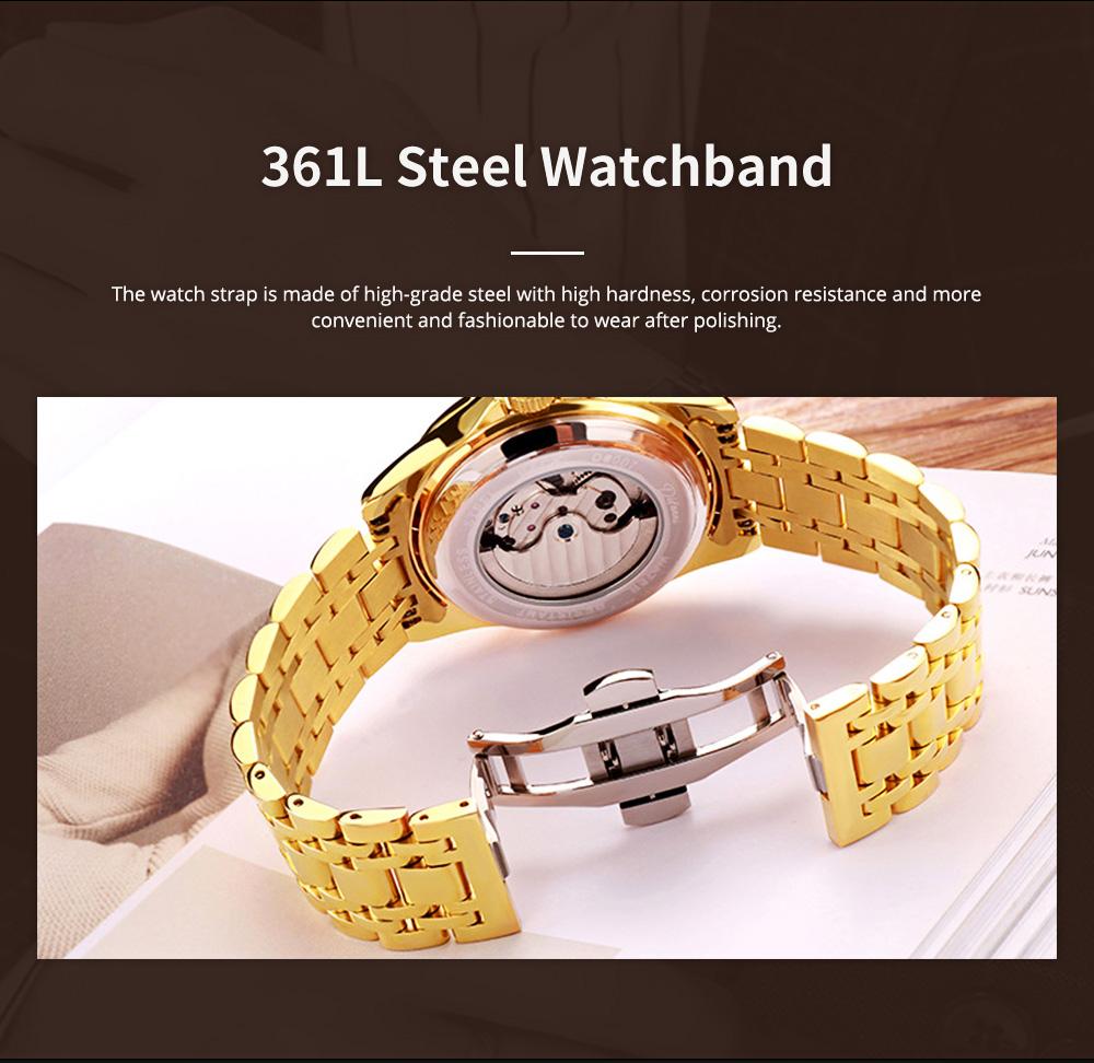 Classic Men's Watch Swiss Flywheel Machinery Watch Fully Automatic Machinery Watch Swiss Geneva Ribbon Machinery Watch 3