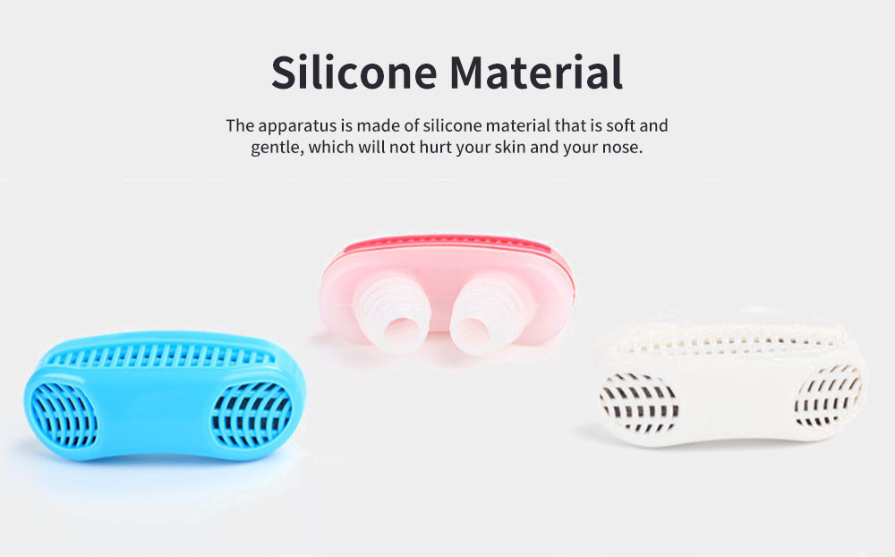 Anti-Snoring & Air Purifier Apparatus, 2 In 1 Sleep Breathe Difficulties Helper, Snore Stopper for Healthy Breath and Sleep 4