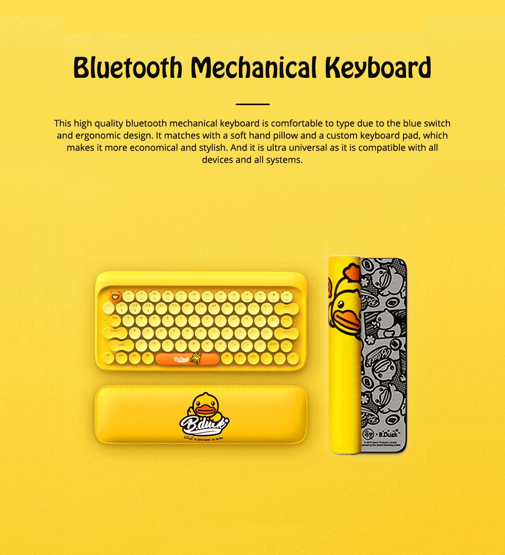 Lofree Dot Bluetooth Mechanical Keyboard with Retro Vintage Typewriter Style Keycaps Compatible with iOS, Android, Windows 0