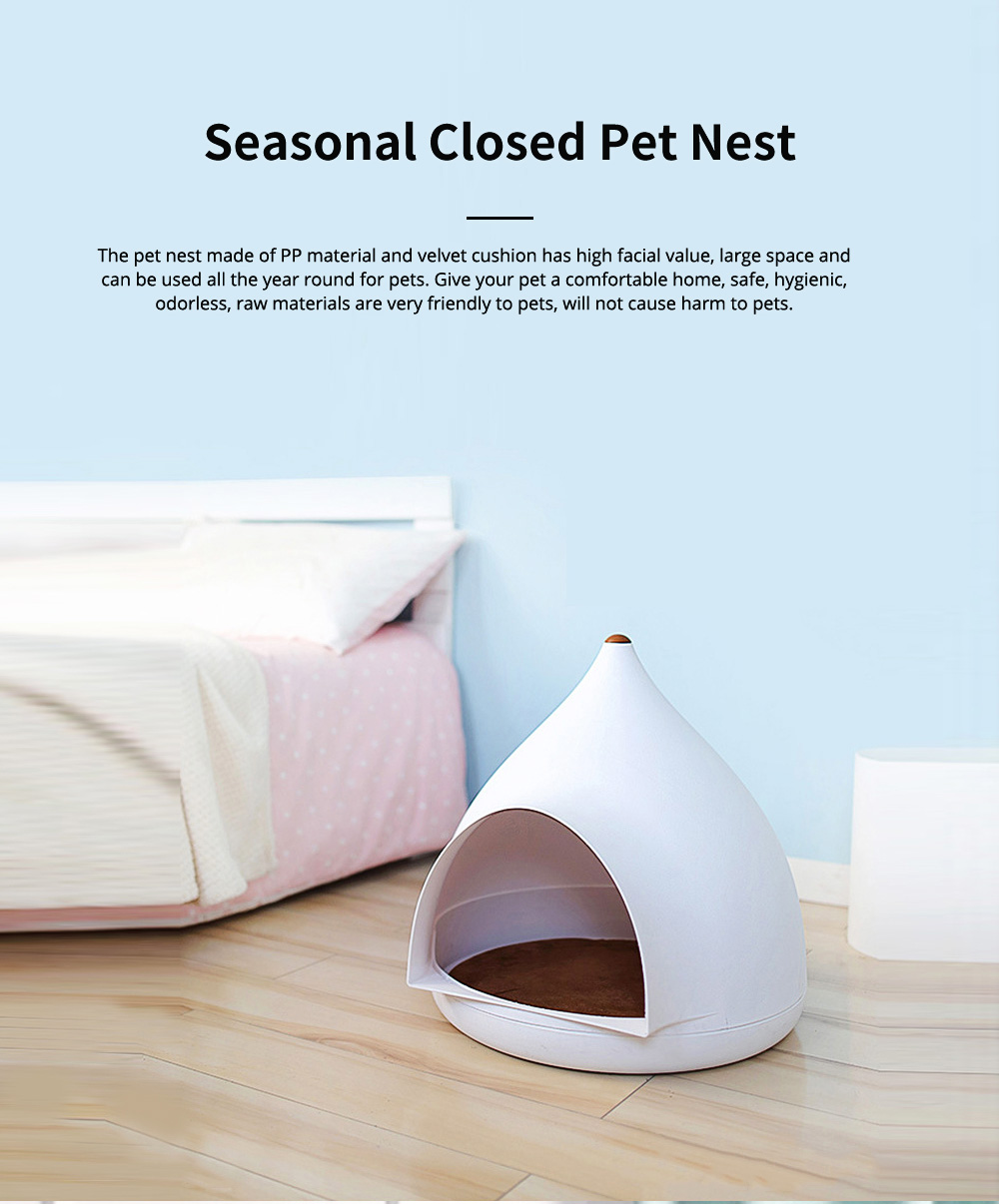 Seasonal Closed Pet Nest Summer Kennels Pet House for Small Dogs Droplet Shape Cat's Nest Bed 0