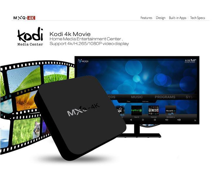 MXQ-4K H3 Android 7.1 TV Box 2GB 16GB Quad Core 4K Wifi Bluetooth H.265 Smart Set Top MXQ Box Network Player Kodi Google  1