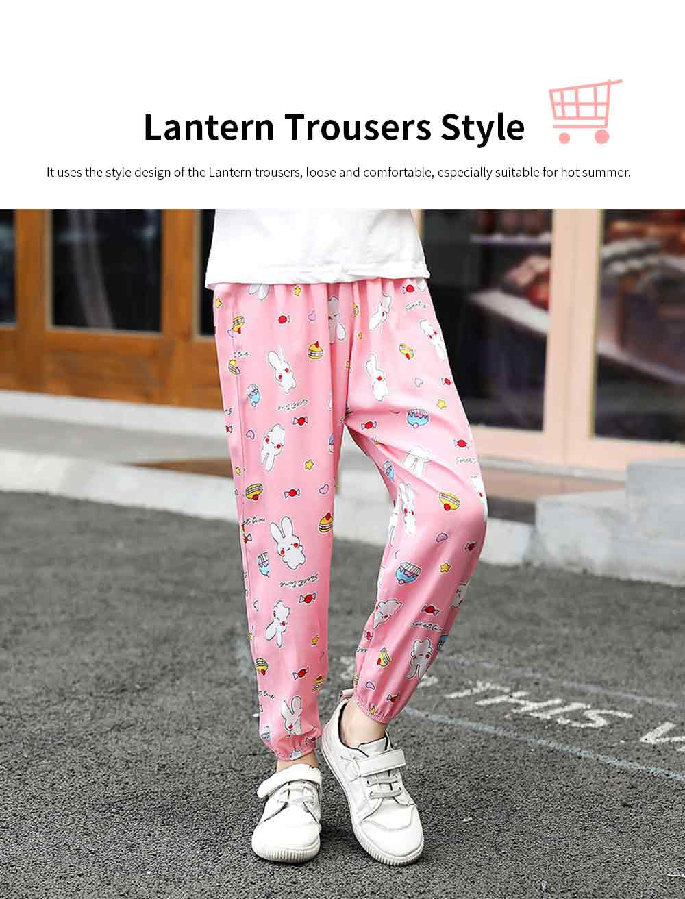 Boy Pants Silk Stylish Design Anti-Mosquito Elastic Cotton for Children Summer Thin Lantern Pants Harem Pants 1