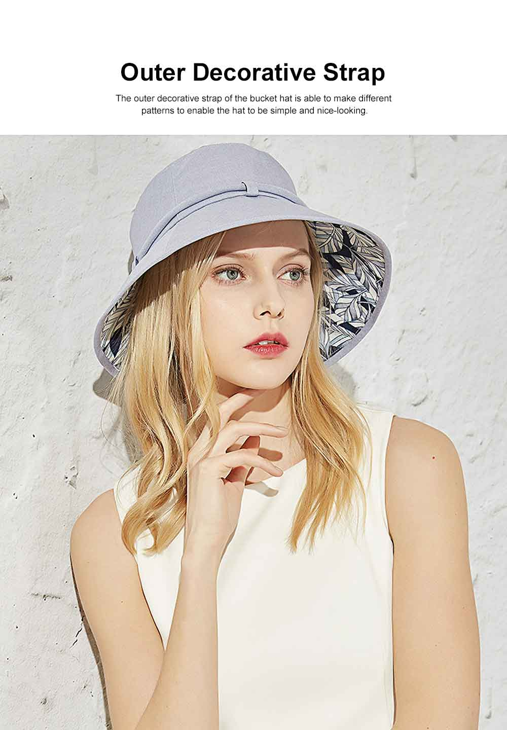 Outdoor Foldable Windproof Sunbonnet for Travelling Casual Sunhat for Lady Summer All-match Sun Helmet for Women Sunblock Bucket Hat 1