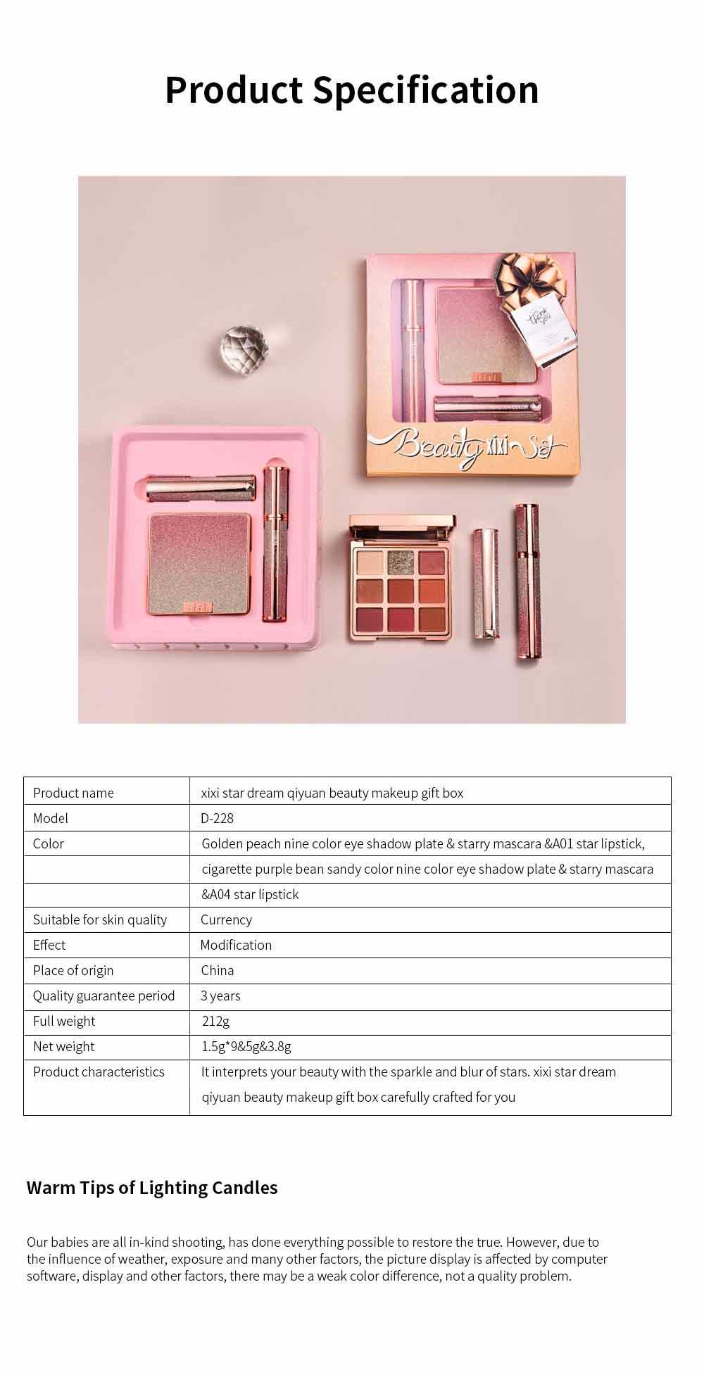9 Color Eye Shadow & Mascara & Lipstick Set Beauty Makeup Birthday Cosmetic Gift Box Set 8