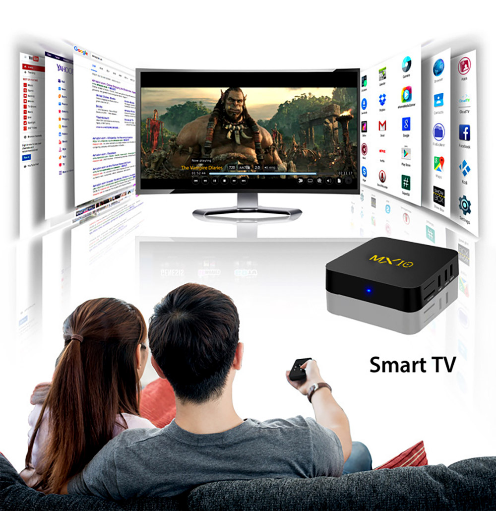 Tinkleo MX10 Kodi 17.1 Android TV Box 4G 32G RK3328 A53 3D 4K Wifi USB 3.0 With Remote 5