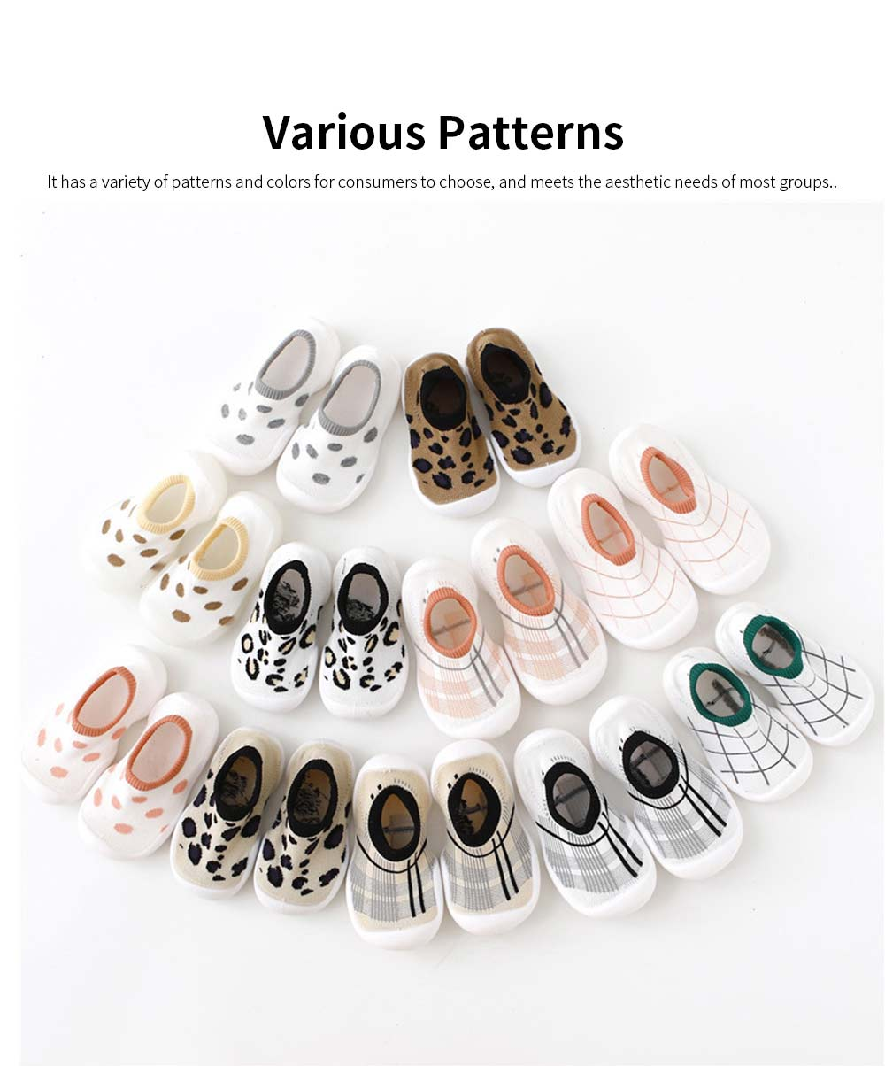 Children's Indoor Shoes Leopard Print Floor Socks 2020 Spring Summer Toddler Walking Sock Shoe 3