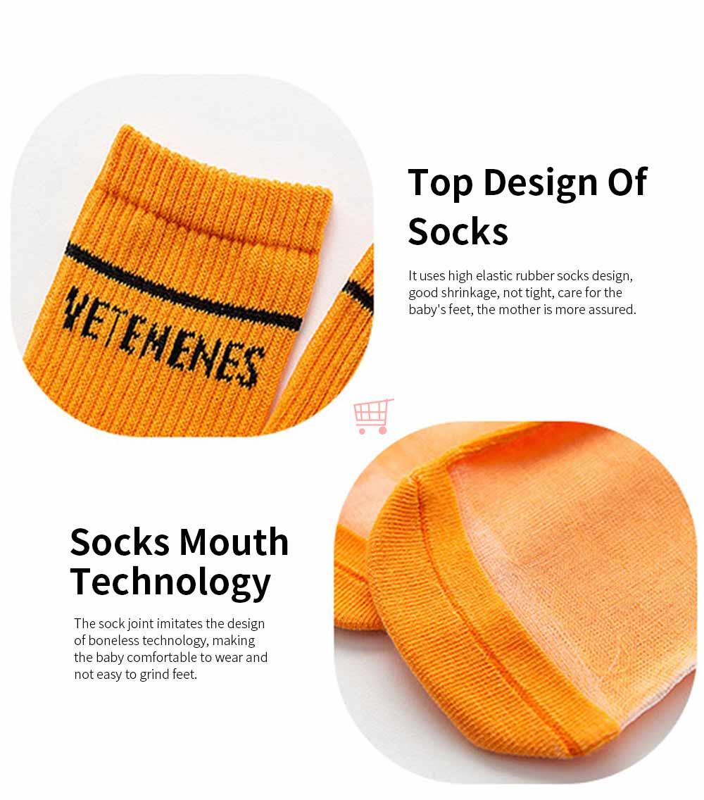 Children's Heelless Medium Length Socks Fashionable Thin Glass Silk Socks For Summer 4