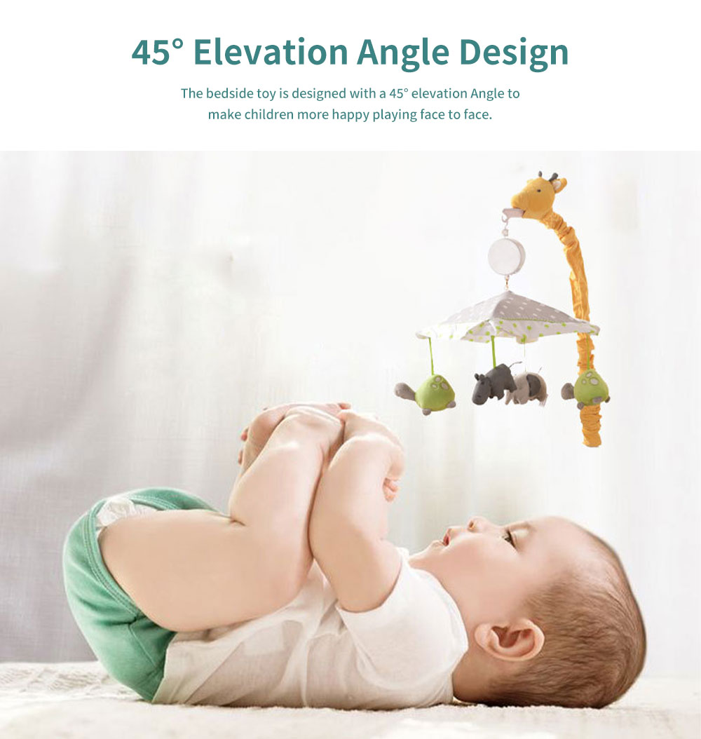 Giraffe Music Bed Bell Bedside Toys Flannel PP Material Cartoon Modeling Giraffe Pendant Healthy for Baby Rattles Soft Baby Mobiles 5