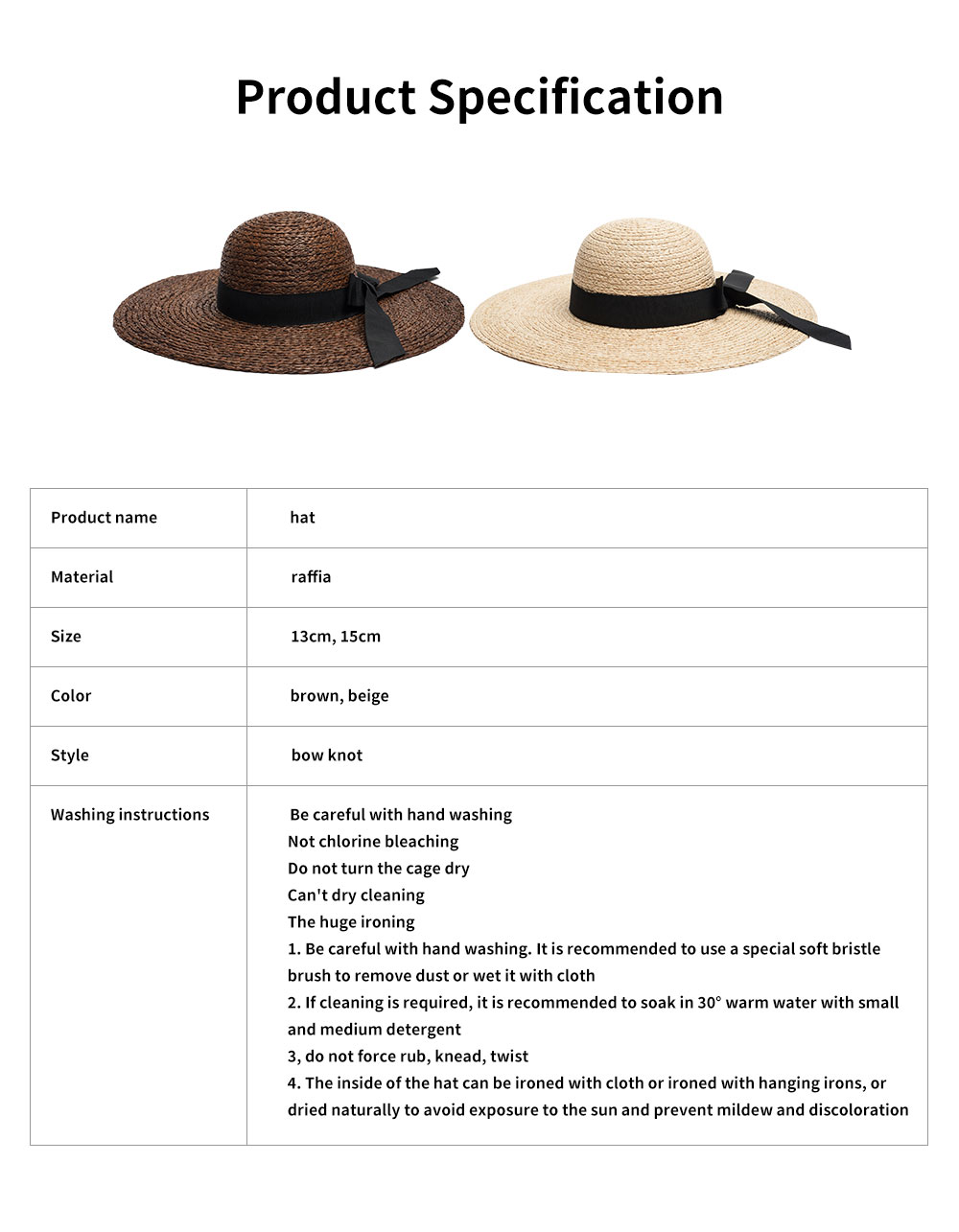 Lightweight Raffia Hat Breathable Topper Fashionable Bow Knot Sunhat Sunscreen for Women Beach Outside Activities Cap 7