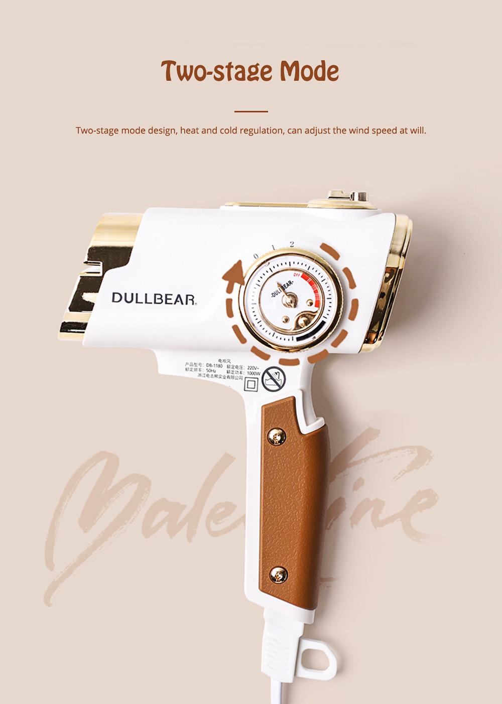 DULLBEAR Negative Ion Hair Dryer Small Portable Folding Home Travel Hairdryer 1