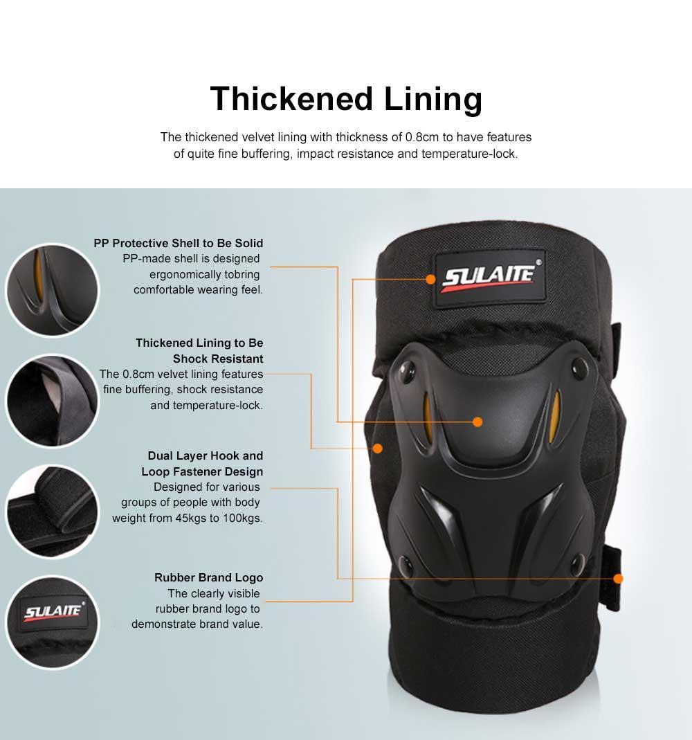 Motorbike Anti-stumbling Kneecap Outdoor Roller Skating Protective Clothing for Knees Heat Resistant Knee Cap Impact Resistant Knee Pads Knee-cap 5