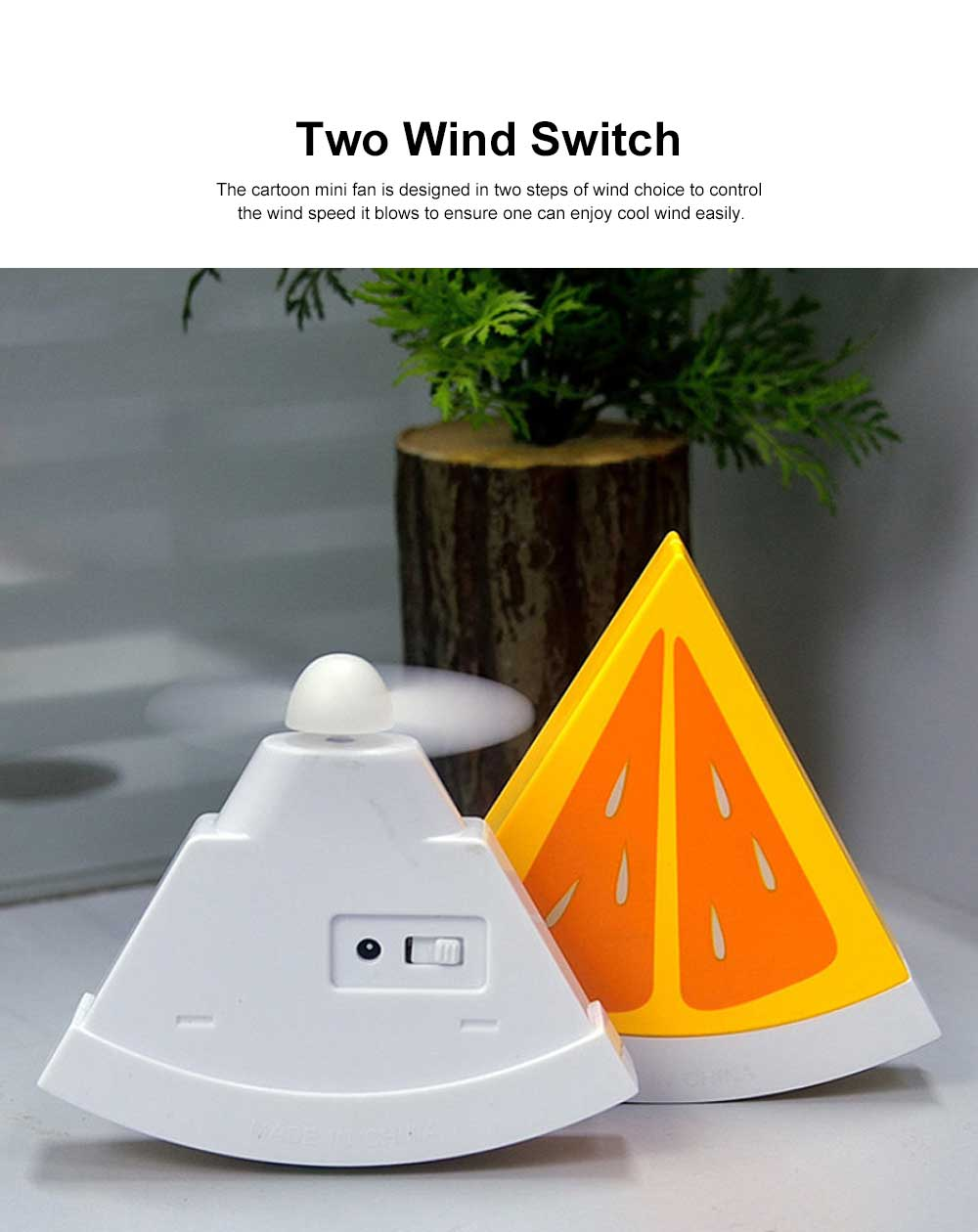 Tinkleo Watermelon USB Chargeable Mini Fan for Children's Gift, Creative Cartoon Portable Air Fan for Baby Present Mini USB Fan 5