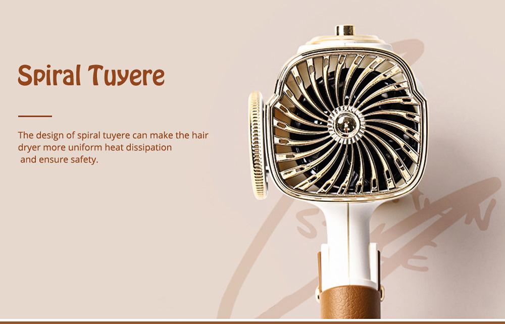 DULLBEAR Negative Ion Hair Dryer Small Portable Folding Home Travel Hairdryer 3