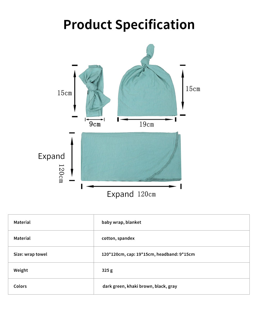 Baby Soft Sleeping Bag Wrap Cotton Spandex Material Prevent Shock Wind Wrapped Towels Shooting Prop for Baby 100 Days 6