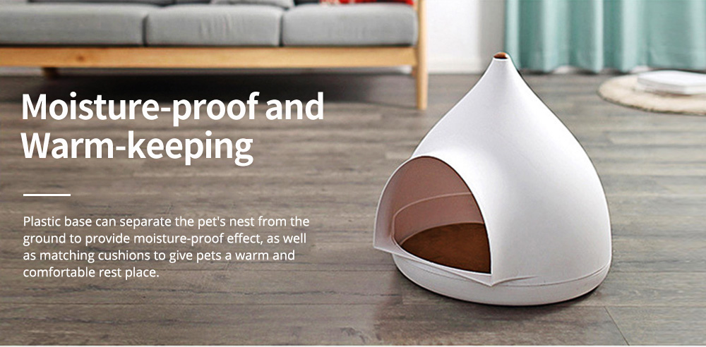 Seasonal Closed Pet Nest Summer Kennels Pet House for Small Dogs Droplet Shape Cat's Nest Bed 6