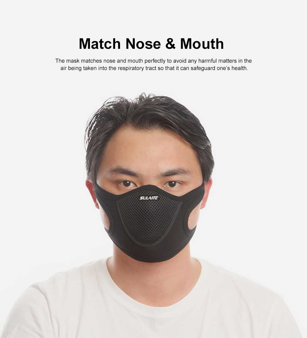 SULAITE Anti-dust & Anti-smog Masks for Outdoor Bicycle Riding Sand Prevention Protective Gauze Mask Breathable Comfortable Mouth-muffle PM2.5 Respirator 1