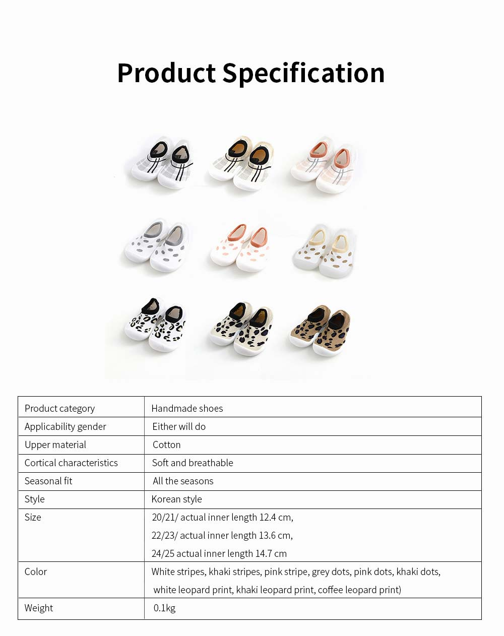 Children's Indoor Shoes Leopard Print Floor Socks 2020 Spring Summer Toddler Walking Sock Shoe 6
