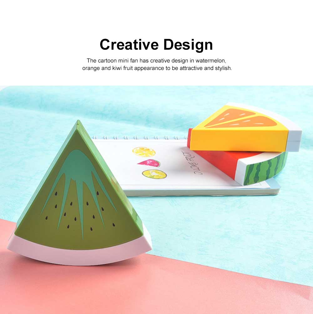 Tinkleo Watermelon USB Chargeable Mini Fan for Children's Gift, Creative Cartoon Portable Air Fan for Baby Present Mini USB Fan 4