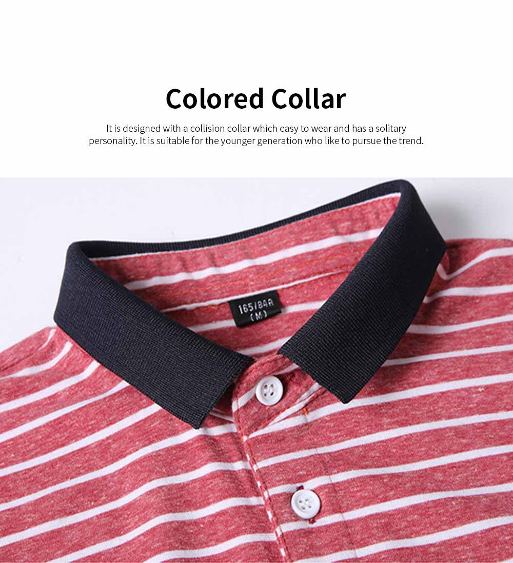 Men's Casual Short-Sleeved Polo Shirt Korean-Style Fashionable Striped Shirt For Summer 1