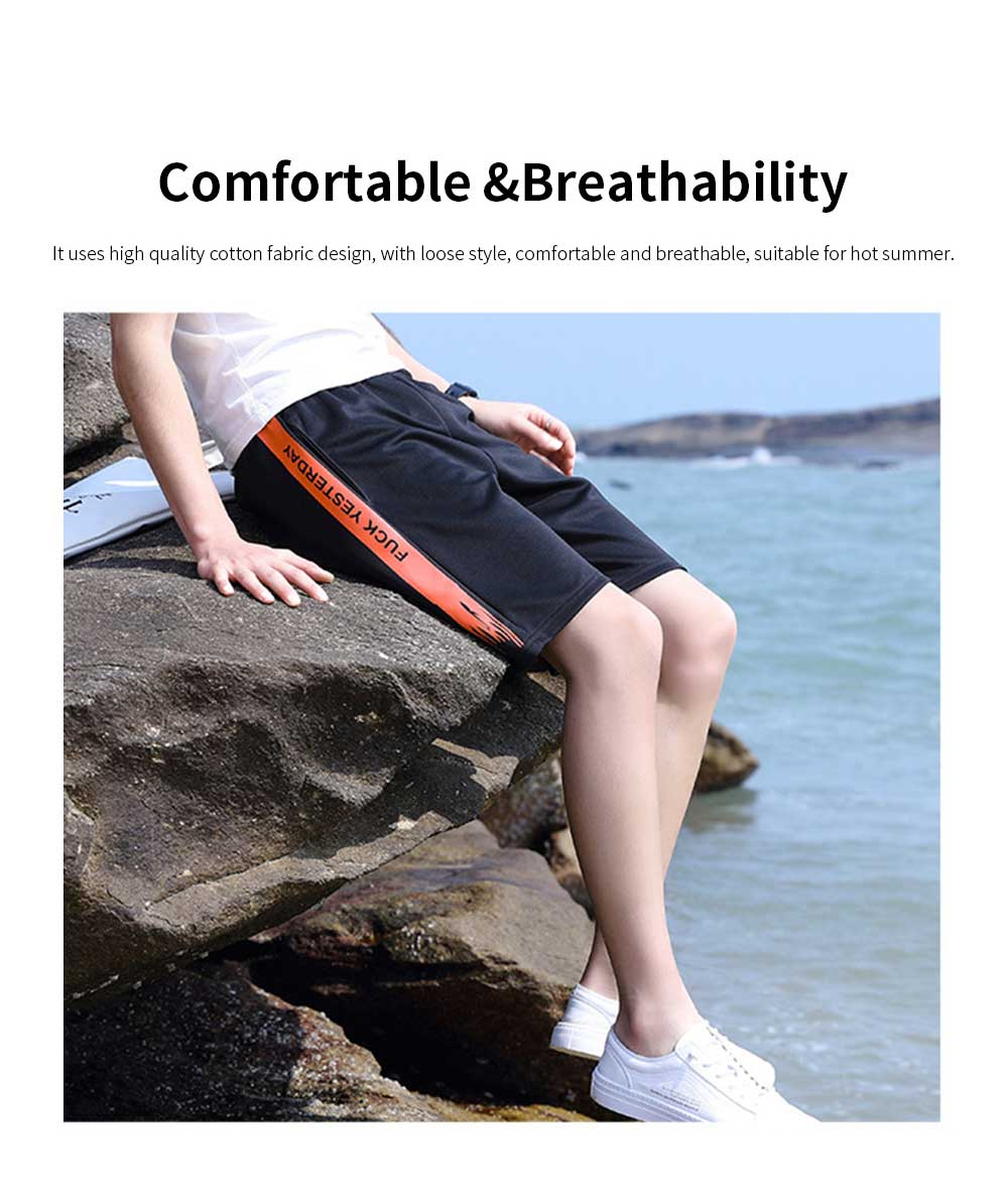 Men's Sports Style Shorts Students' Five-Point Shorts New Fashion Simple & leisure Pants For Summer 3