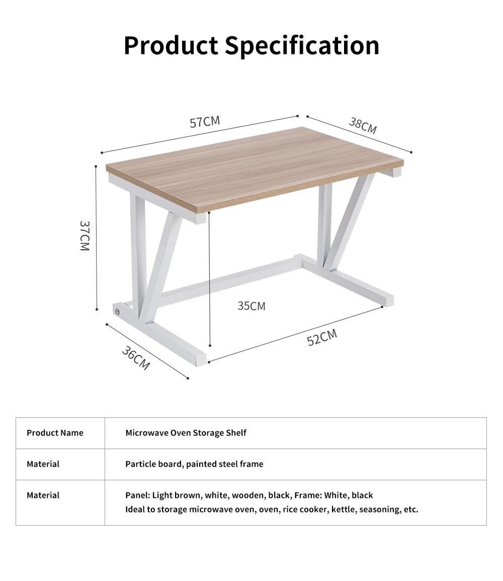 Double-layer Microwave Oven Shelf Multifunctional Rack Stand Cabinet Shelf Storage Organizer 6