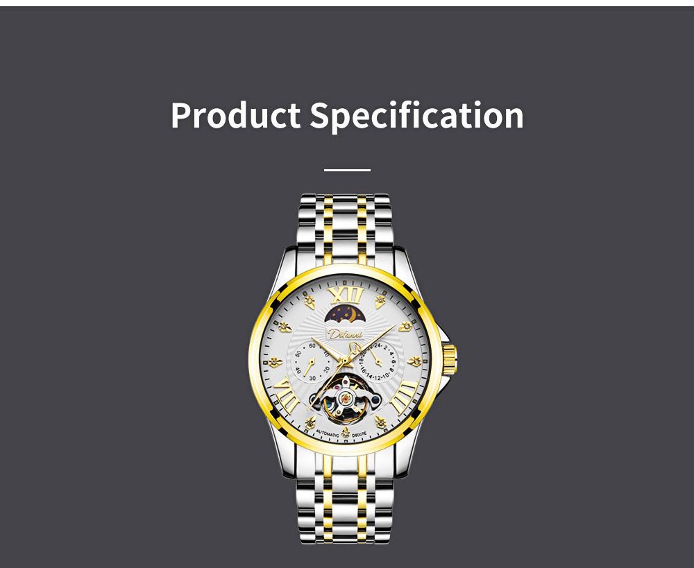 Classic Men's Watch Swiss Flywheel Machinery Watch Fully Automatic Machinery Watch Swiss Geneva Ribbon Machinery Watch 6